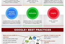 Google+ en infographies / Bonnes pratiques, stratégie, conseils