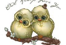 Owl Mania / Owls / by Ressa Engelhart (Ross)