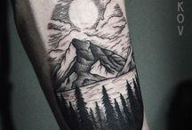 Tattoo montagn