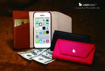 Leather wallet case for iPhone 5S / Luxury style Genuine leather case with wallet design for iPhone 5S — jisoncase.com