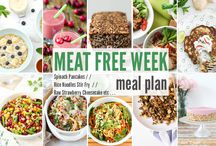 Meat Free Meal Plan by The Flexitarian / Vegetarian & Vegan Recipes Inspiration for Your Meat Free Week