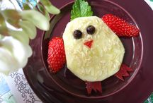 Fresh fruits & kids / Funny raw desserts & healthy snacks with fruits