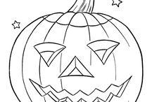 Halloween : font et coloriages