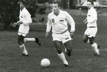 """Soccer Snapshots / In support of #Hofstra's """"Soccer as the Beautiful Game"""" conference, this exhibit features classic photographs of Hofstra Men's and Long Island soccer teams and the greatest soccer player, Pelé."""