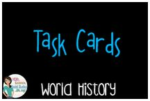 World History:  Task Cards / Task cards for world history classes
