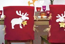 vestido de sillas de Navidad