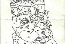 omalovánky -zima-vánoce