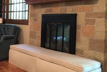HearthSoft by Jamboo Creations / This made-to-measure product protects toddlers around the fireplace hearth with thick dense foam and covered with beautiful, durable fabrics in an array of colors and textures.  The HearthSoft also provides additional, comfortable seating in the home.