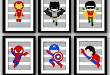Quarto super herois / by Macetes de Mae