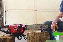 Holz machen/Säge