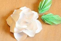 virágok papírból, filcből...