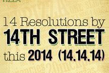 14 Resolutions by 14th Street Pizza / (14.14.14)