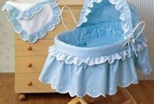 Blue Baby Cradle & Kids Bedroom & Stuff