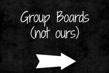 Group Boards / Shared boards that we follow.  (It you wish to be added to any of these boards do so by contacting the Pinner to whom the board belongs)