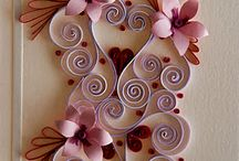 Paper quilling on cards