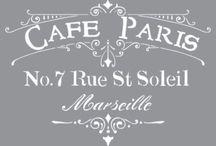 cafe de paris stencil