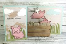Stampin Up - this little piggy / Stampin Up, this little piggy stamp set