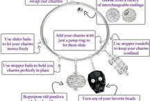 Build-a-Charm Bangle Bracelets / by TooCuteBeads.com