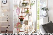 Escaleras de madera como accesorios decorativos 2017