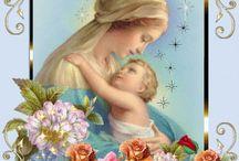 La virgen maria  y su niño