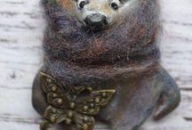 Funny Brooches (Bon Bear) / My handmade