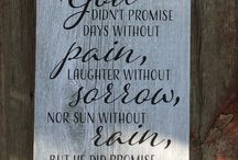 Inspirational wood signs