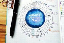 Bullet journal calendrier mensuel