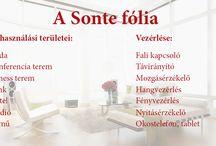 Sonte fólia vezérlése és felhasználási területei / A Sonte Fólia egy olyan energiatakarékos fólia, melyet bármilyen üvegfelületre felhelyezhetünk és gombnyomással tudjuk változtatni az átláthatóságát. További információ: www.sontehungary.hu