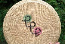 Pouf made of tire / Pufa robiona z opony / wykonane w pracowni Pif Paf Puf/ made in Pif Paf Puf workshop  Pufa zrobiona ręcznie z opony oraz liny jutowej // Handmade pouf from tire and rope jute
