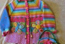 Kız çocuk orgu elbise yelek modelleri