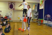 Circus Skills Workshops in schools. / Circus skills workshops by Melanie and Angelo from Magical Circus.