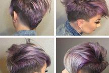 lavender pixie hair
