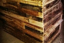 my salon pallet wood / Pallet wood upcycle