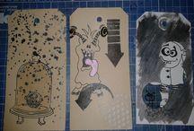 kaarten (tags) te koop / dit zijn een aantal tags (kaarten) die ik heb gemaakt ik kan ze aanpassen door er gefliciteerd of iets anders wat je wenst erop te zetten. De kaarten krijg je incl. enveloppe. Ik maak ook kaarten op verzoek of voor een kinderfeestje of dergelijke.