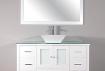 "AW-125-48-W 48"" Single Modern Bathroom Vanity Set White"
