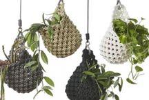 Crochet pot flower