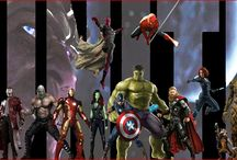 Marvel Universe / My husband's creations for Marvel, hardcore fan.  / by Maria Delgado