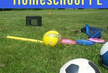 Homeschool P.E. / Homeschool P.E. requires a bit of creativity.  Here you will find physical fitness activities that will work for homeschool families.  Make time for homeschool gym class to maintain a healthy lifestyle.