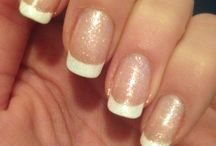 Nail's arte / French con finish glitterato
