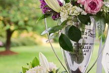 Weddings Vintage Sustainable Wedding Decor / Vintage wedding decor upcycled and recycled reception ideas outdoor wedding with silver loving cup trophies, vintage globes and vintage lawn games