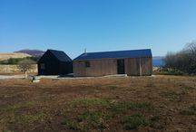 Blueberry Shed exterior / Photos showing the architecturally modern design of the Blueberry Shed in its rural setting
