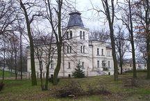 Goniembice - Pałac / Pałac w Goniembicach wybudowano w na zlecenie ówczesnych właścicieli majątku, rodziny Cioromskich w XIX w. Należał do nich do 1923 r., kedy został sprzedany Kazimierzowi Przybyle.  W czasie wojny  majątek stał się własnością Rzeszy Niemieckiej. Po wojnie upaństwowiony a w 1952 roku utworzono w nim Rolniczą Spółdzielnię Produkcyjną. Obecnie - opuszczony.