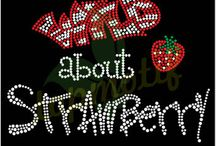 Strawberry Rhinestone Transfers