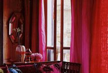 Rich in reds/ tickled pink / Colorful interiors