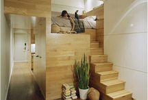 Interiores pequeños en madera