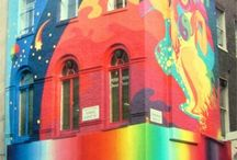 Street ART on Buildings  and  Colourful Buildings! / Awesome!