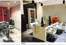 """""""Momenti Hair Salon"""" - Corporate ID & Interior Design / Hair Salon by the project to the executive work"""