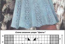 šaty pletené a háčkované