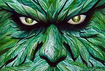 Green Man and Green Lady