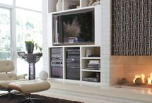 modern fireplaces with tv